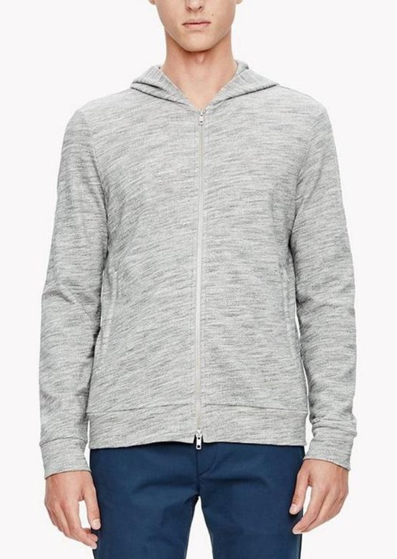 Theory Cotton Blend Hooded Zip Sweatshirt