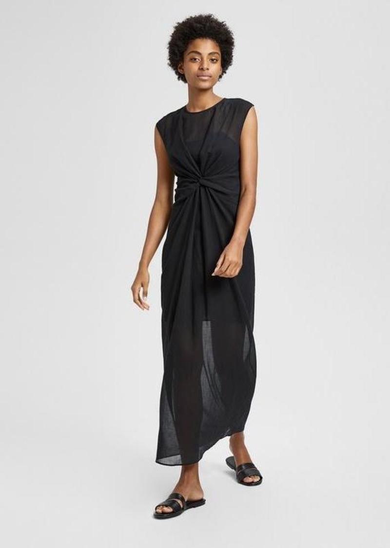 44a3f4bf18a0 Theory Cotton Knot Front Midi Dress