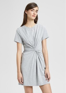 Theory Cotton-Modal Knot Tee Dress