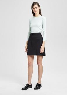 Theory Cotton Piqué High-Waisted Mini Skirt
