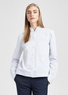 Theory Cotton Striped Boy Shirt