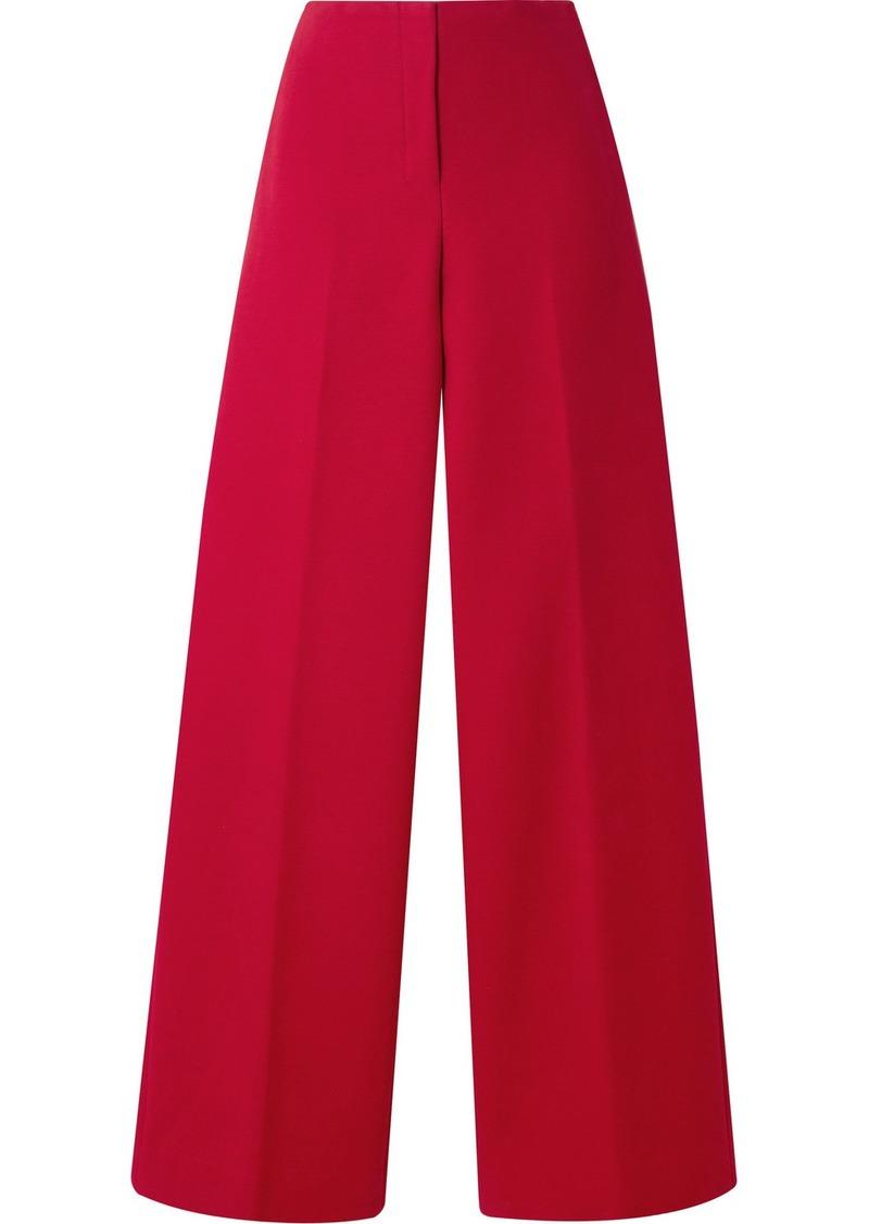 Theory Cotton-twill Wide-leg Pants