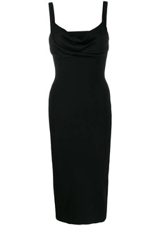 Theory cowl-neck midi dress