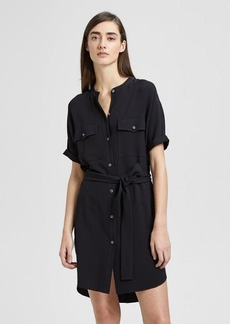 Theory Crepe Belted Cargo Dress