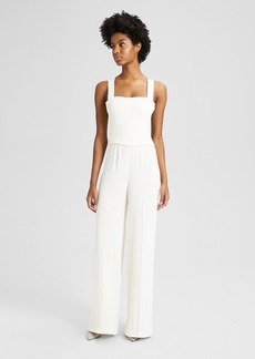 Theory Crepe Bustier Jumpsuit
