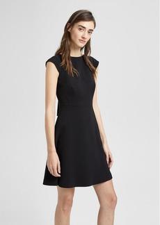 Theory Crepe Cap-Sleeve Shift Dress