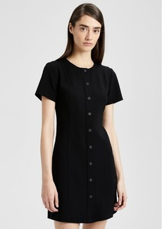 Theory Crepe Easy Snap Shift Dress