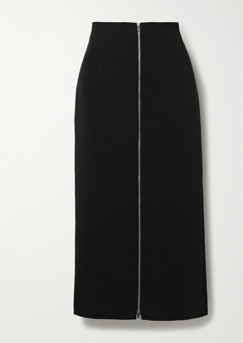 Theory Crepe Midi Skirt