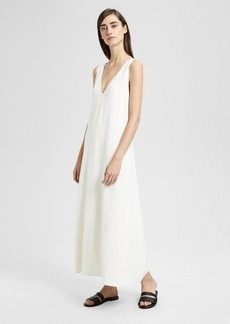 Theory Crepe V Maxi Dress