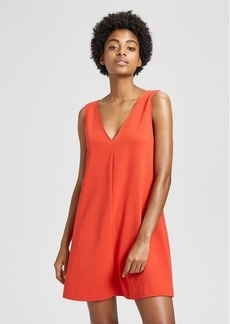 Theory Crepe V Shift Dress