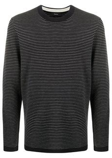 Theory crew neck pinstriped sweatshirt
