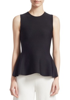 Theory Crewneck Peplum Top