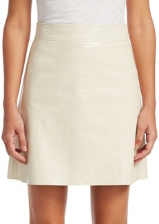 Theory Crinkle Patent Leather Mini Skirt