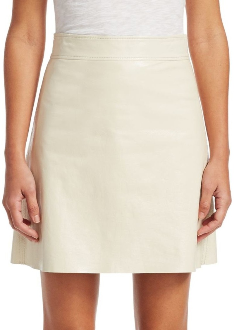 da11ae0b83 Theory Crinkle Patent Leather Mini Skirt   Skirts