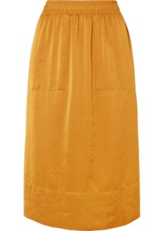 Theory Crinkled-satin Midi Skirt