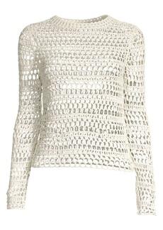 Theory Crochet Long Sleeve Top