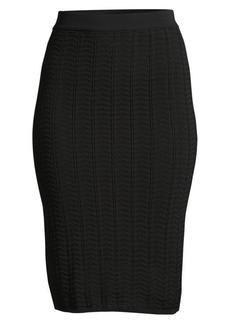 Theory Crochet Pencil Skirt