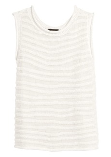 Theory Crochet Stripe Sleeveless Shell