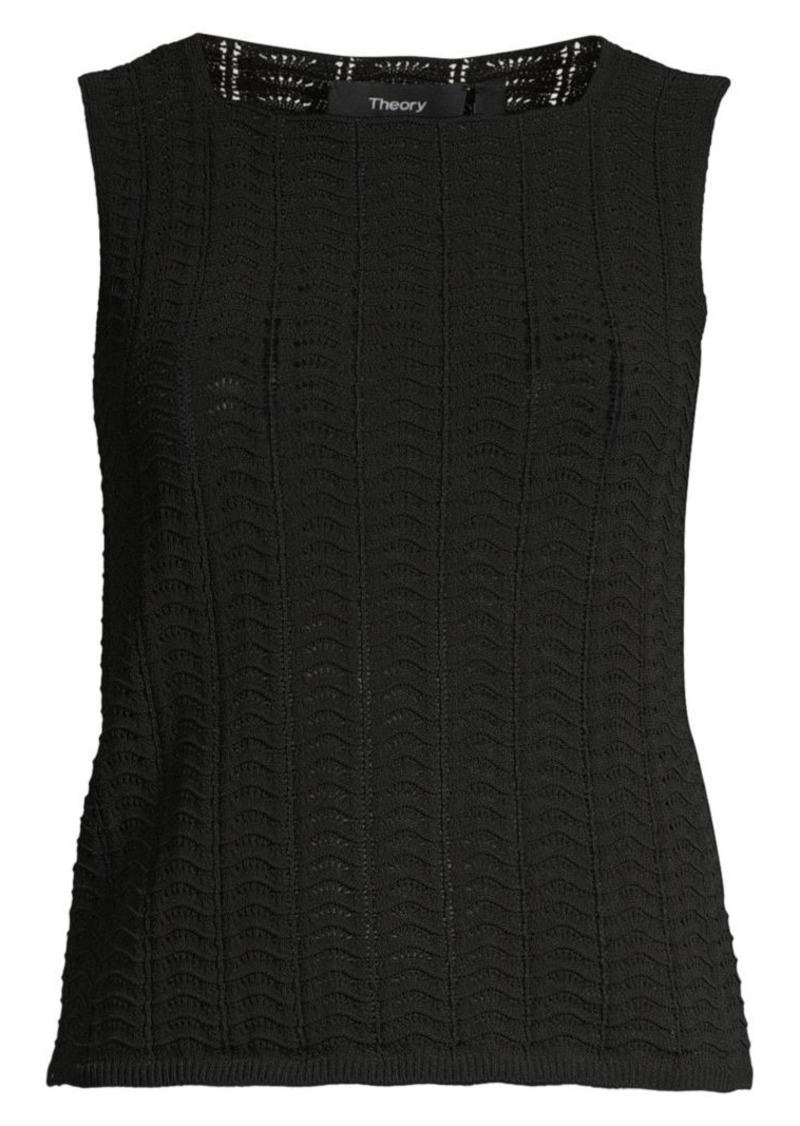 Theory Crochet Tank Top