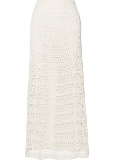Theory Crocheted Cotton-blend Maxi Skirt