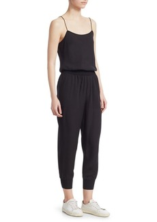 Theory Cropped Silk Jumpsuit