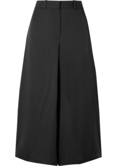 Theory Cropped Silk Wide-leg Pants