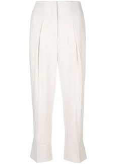 Theory cropped tailored fitted trousers