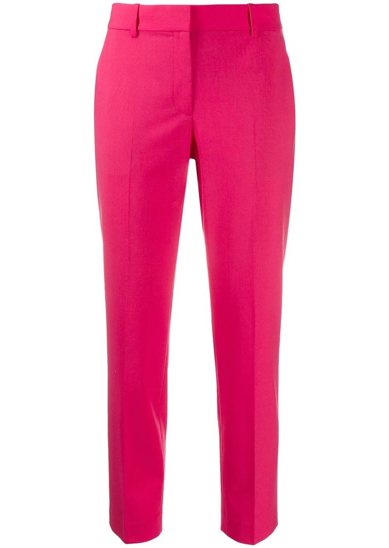 cropped tailored-style trousers