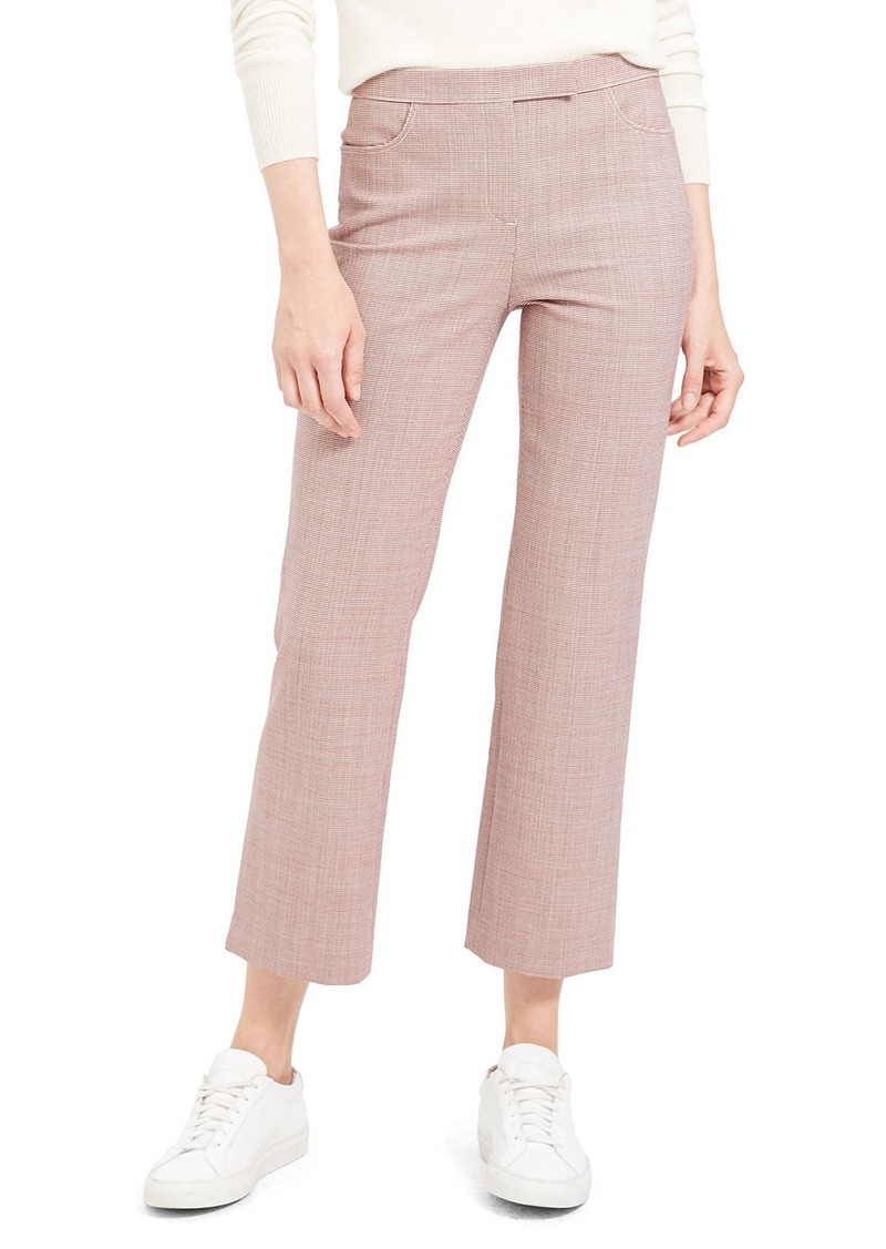 Theory Cropped Wool Straight-Leg Pants