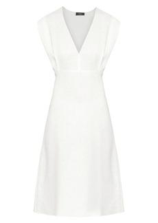 Theory Deep V-Neck Dress