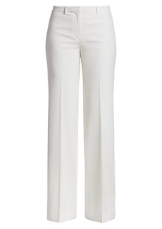 Theory Demitra Travel Stretch-Wool Pants