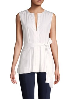 Theory Desza Sleeveless Tunic Blouse