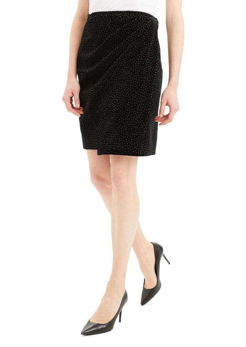 Theory Dot Pleated Wrap Skirt