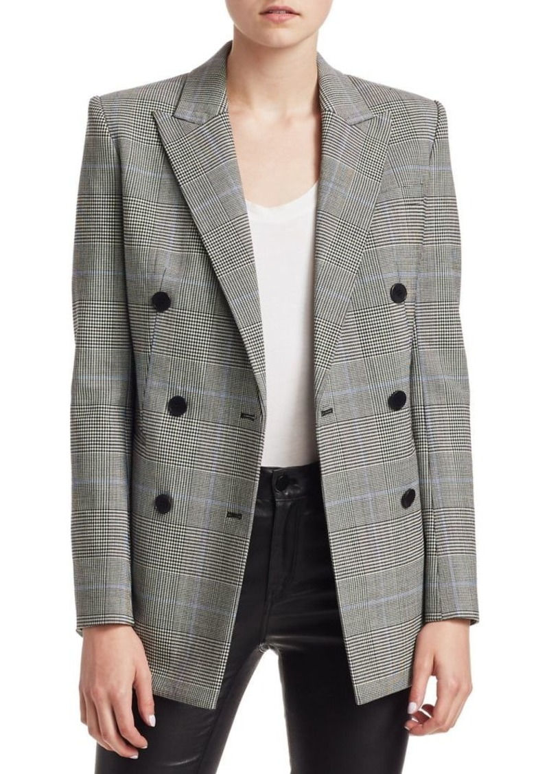 72247482c5 Theory Double Breasted Check Blazer | Outerwear