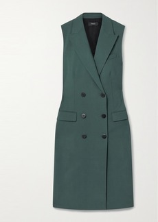 Theory Double-breasted Stretch-wool Vest