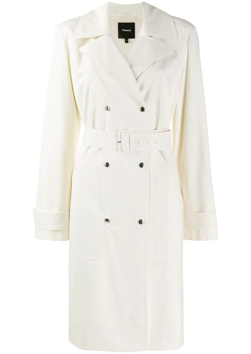 Theory double-breasted trench coat