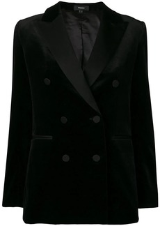 Theory double breasted tuxedo jacket