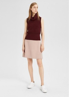 Theory Double-Faced High-Waisted Mini Skirt