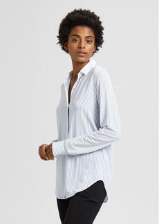 Double-Stripe Essential Button-Down Shirt