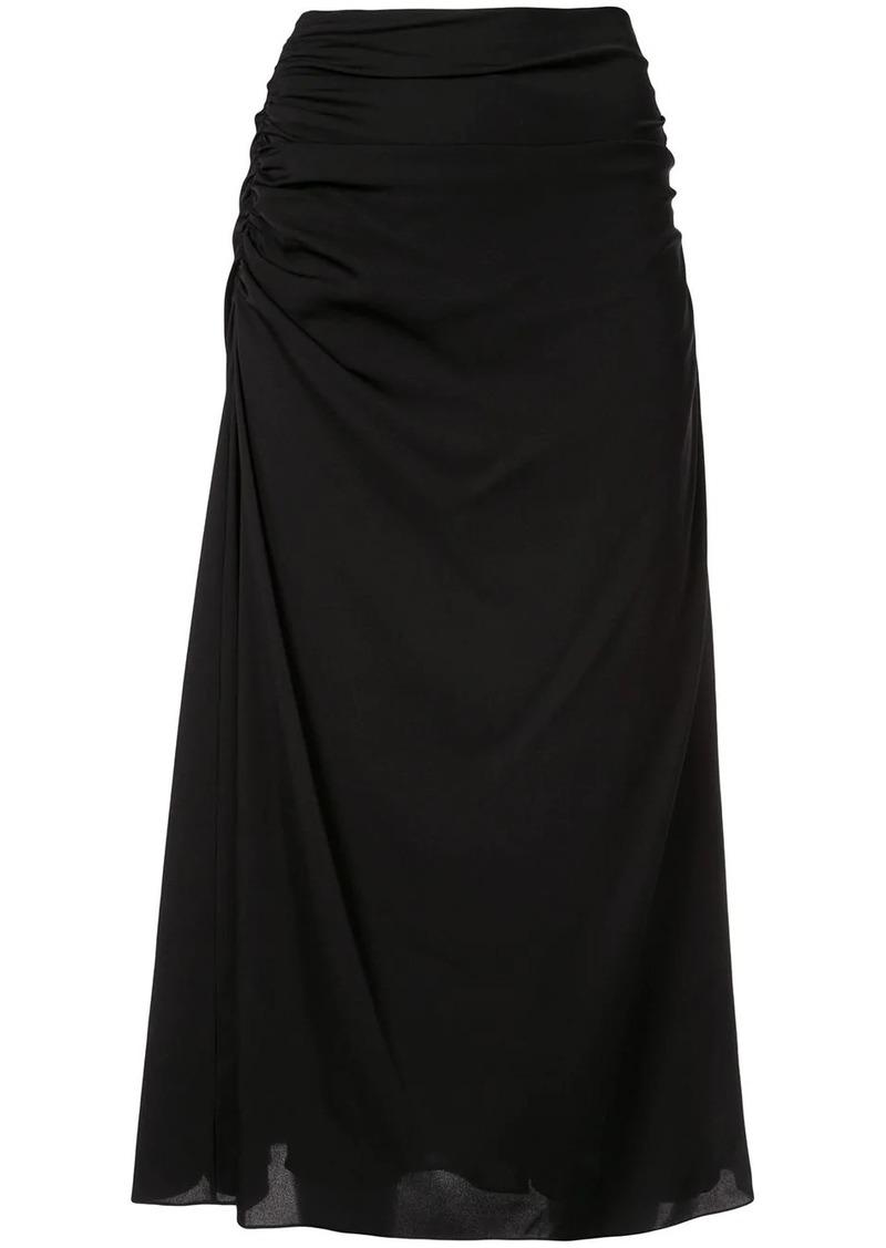 Theory drape detail skirt