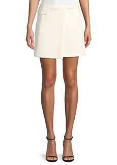 Theory Draped A-Line Mini Skirt
