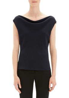Theory Draped Bateau Neck Top