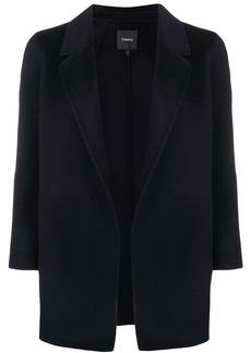 Theory draped fitted cardi-coat