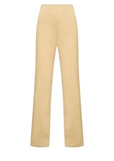 Theory Eco Crunch High-Rise Wide-Leg Pants