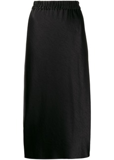 Theory elasticated-waistband midi skirt
