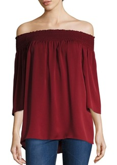 Theory Elistaire Off-the-Shoulder Top