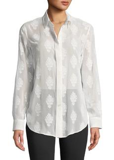 Theory Essential Button-Down Coastal Shirt