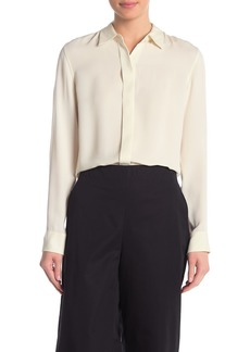 Theory Essential Button Front Silk Shirt