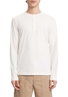 Theory Essential Slubbed Long Sleeve Henley