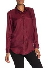 Theory Essential Solid Silk Shirt